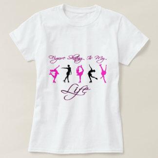 T-shirt Le patinage artistique est ma vie - ROSE et NOIR