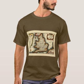 T-shirt Le Pays de Galles - carte du 17ème siècle
