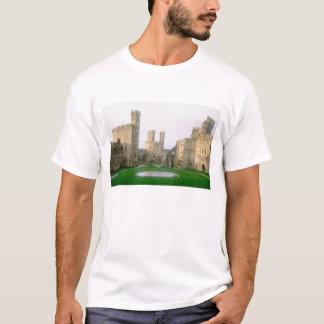 T-shirt Le Pays de Galles, château de Caernarfon, un