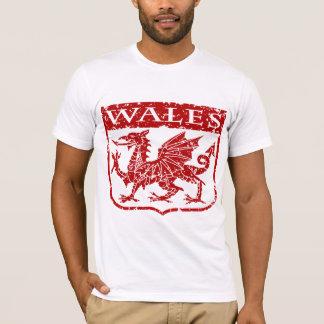 T-shirt Le Pays de Galles vintage