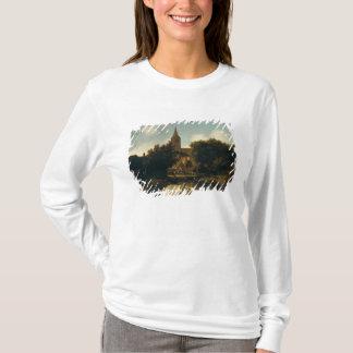 T-shirt Le paysage boisé avec des figures s'approchent