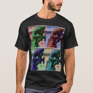 T-shirt Le penseur (noir)