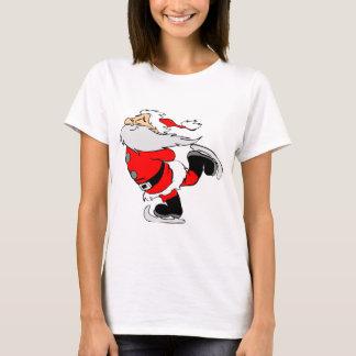 T-shirt Le père noël de patinage sur Noël