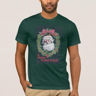 T-shirt Le père noël en guirlande de houx