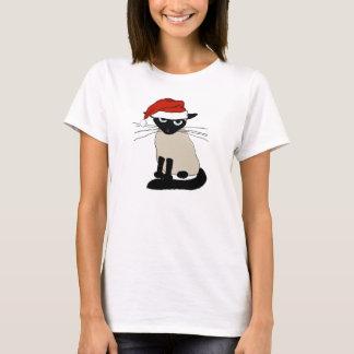 T-shirt Le père noël siamois - chat drôle de Noël