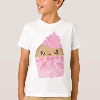 T-shirt Le petit gâteau rose badine la pièce en t