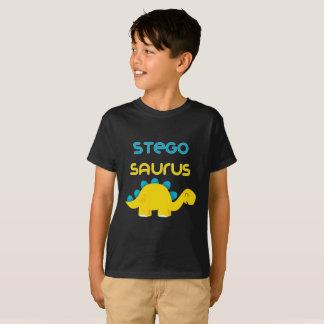 T-shirt Le petit Stegosaurus mignon de famille de Dino