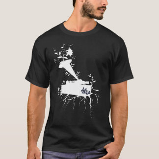 T-shirt Le phonographe, musical enracine le ~ version1