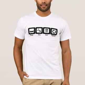 T-shirt Le piqué de sommeil mangent la répétition