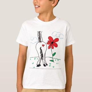 T-shirt Le pitute de chevaux