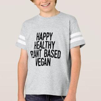 T-shirt Le plante sain heureux a basé le végétalien (le