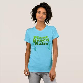 T-shirt Le plante végétalien a basé la pièce en t de mode