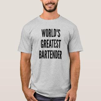 T-shirt Le plus grand barman des mondes