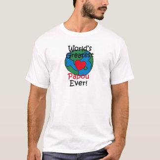 T-shirt Le plus grand coeur de Papou du monde