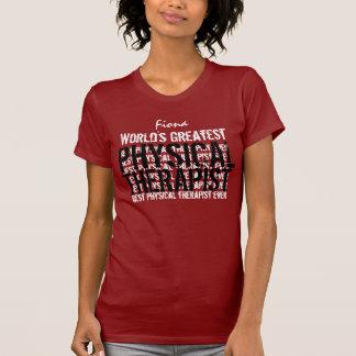 T-shirt Le plus grand physiothérapeute TS019P du monde