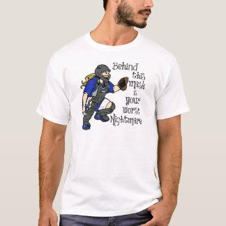 T-shirt Le plus mauvais cauchemar, bleu