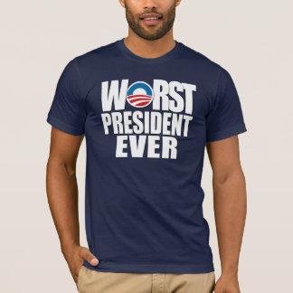 T-shirt Le plus mauvais Président Ever