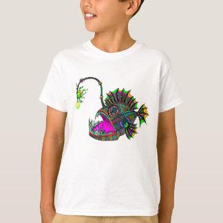 T-shirt Le poisson de pêcheur à la ligne électrique