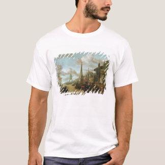 T-shirt Le port de Rhodes