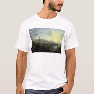 T-shirt Le port vue de Gênes, mer