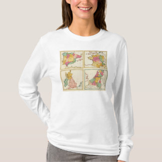 T-shirt Le Portugal, Espagne, Allemagne, Angleterre,