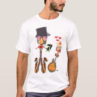 T-shirt Le poussin de roche rencontre le petit pain de M.