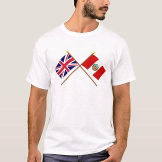 T-shirt Le R-U et les drapeaux croisés par Pérou