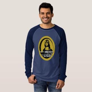 T-shirt Le raglan des hommes de Moto Lisas - sélectionnez