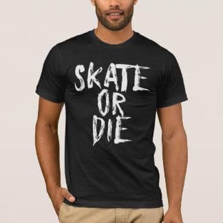 T-shirt Le raie ou meurent, conception de Derby de rouleau