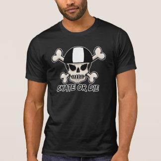 T-shirt Le raie ou meurent crâne et os croisés
