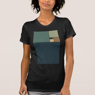 T-shirt Le rapport d'or ajuste (les neutres)
