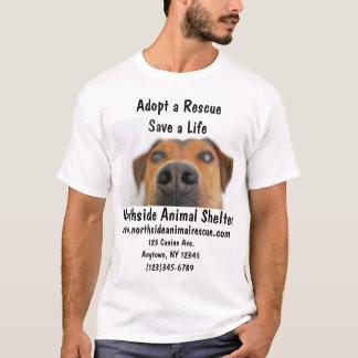 T-shirt Le refuge pour animaux adoptent une chemise de