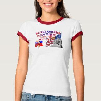 T-shirt Le républicain se rappellent en novembre anti