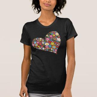 T-shirt Le ressort lunatique fleurit l'amour mignon de