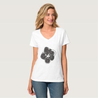 T-shirt le rétro des femmes peu précises noires et