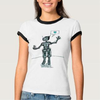 T-shirt Le robot et le chaton sont des amis