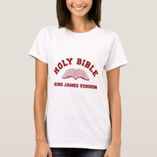 T-shirt Le Roi de Sainte Bible James Version en rouge