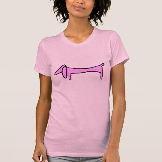 T-shirt Le rose de teckel