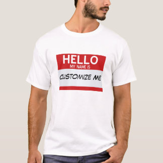 T-shirt Le rouge bonjour mon nom est… personnalisable