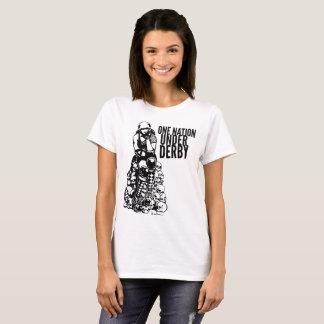 T-shirt Le rouleau Derby a conçu la nation de la chemise