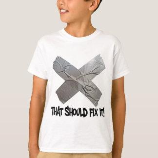T-shirt Le ruban adhésif devrait le fixer