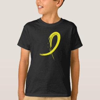 T-shirt Le ruban jaune A4 du cancer de la vessie