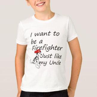 T-shirt Le sapeur-pompier aiment mon oncle