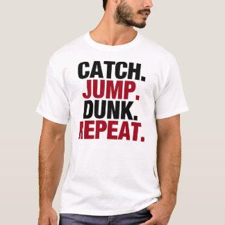 T-shirt Le saut de crochet trempent la répétition