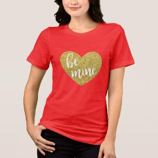 T-shirt Le scintillement d'or soit chemise de Valentine de