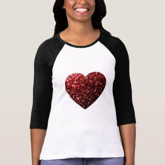 T-shirt Le scintillement rouge de beau charme miroite