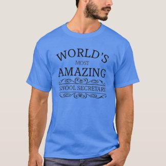 T-shirt Le secrétaire de l'école le plus extraordinaire du