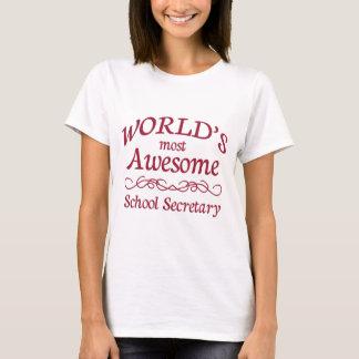 T-shirt Le secrétaire de l'école le plus impressionnant du