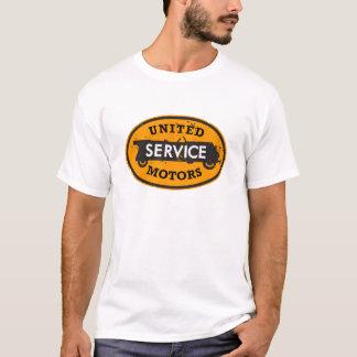 T-shirt Le service uni affligé circule en voiture le