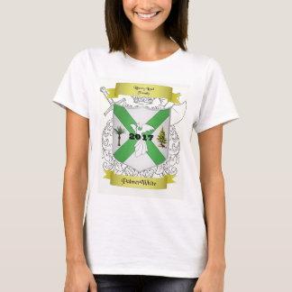 T-shirt Le short de Palmer/de femme blanche de famille a
